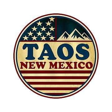 TAOS NEW MEXICO Skiing Ski  by MyHandmadeSigns