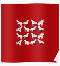 Dalapferd Einhörner Poster