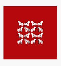 Dalapferd Einhörner Fotodruck