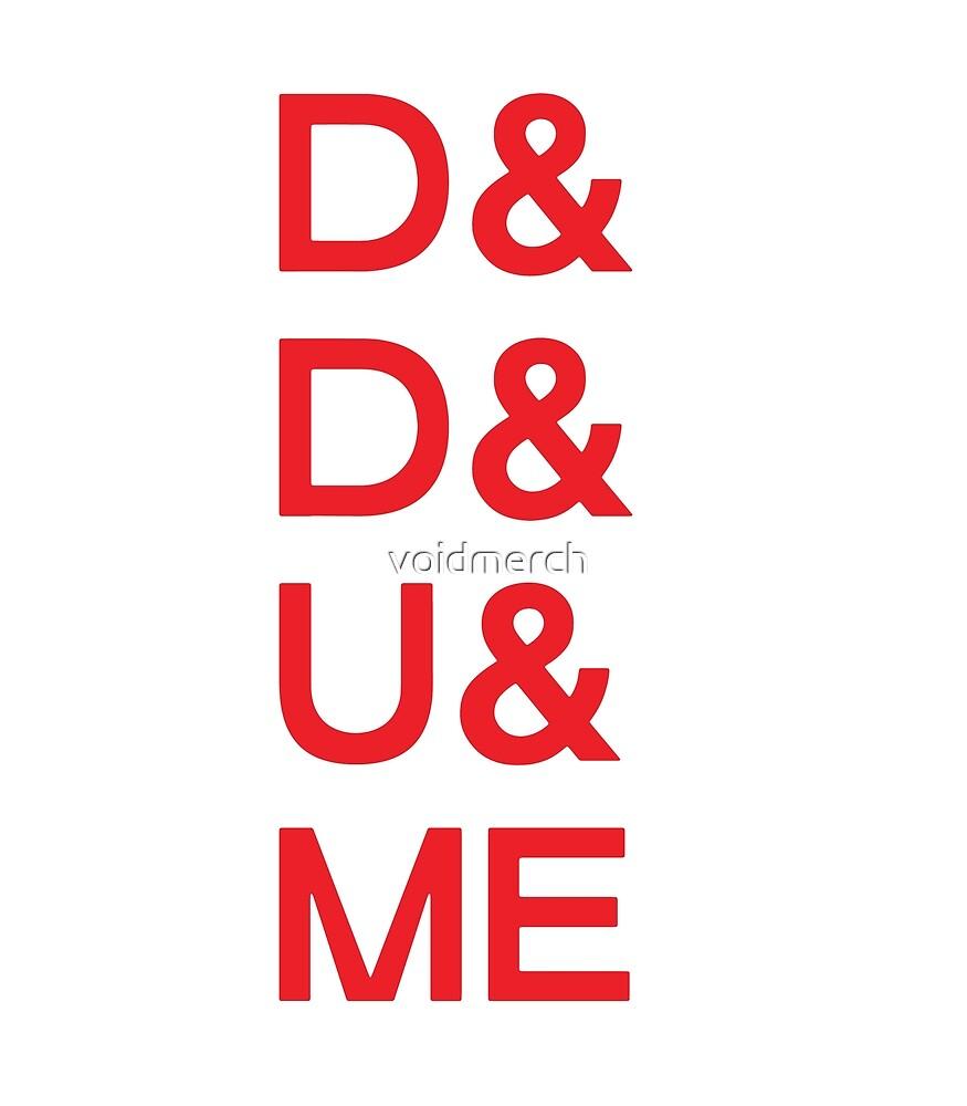 D&D&U&ME Valentines Card (RED) by voidmerch