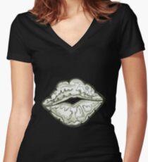 Mwah! Shirt mit V-Ausschnitt