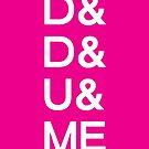 D&D&U&ME VALENTINE CARD PINK EDITION! by voidmerch