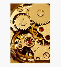 Antique watch mechanism Photographic Print