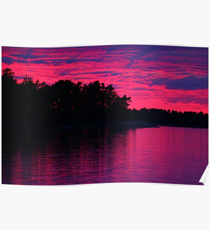 Nordic sunset Poster