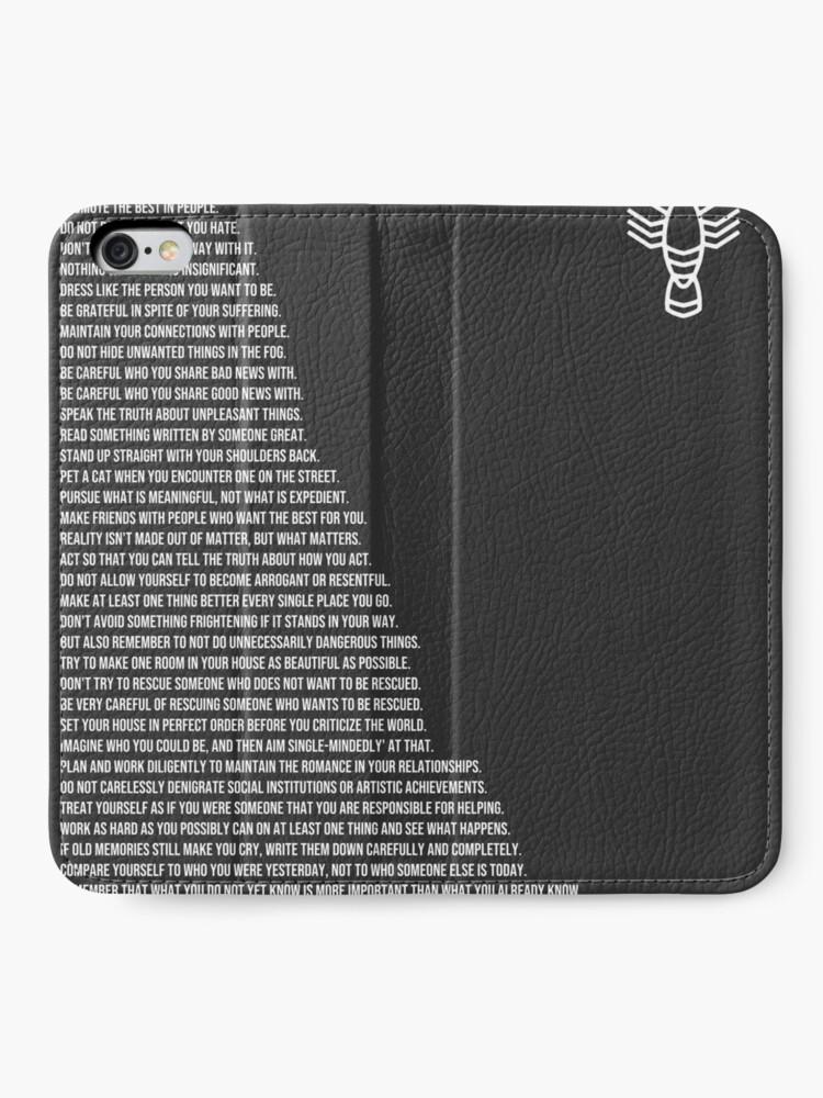 Alternative Ansicht von Jordan B Petersons Regeln iPhone Flip-Case