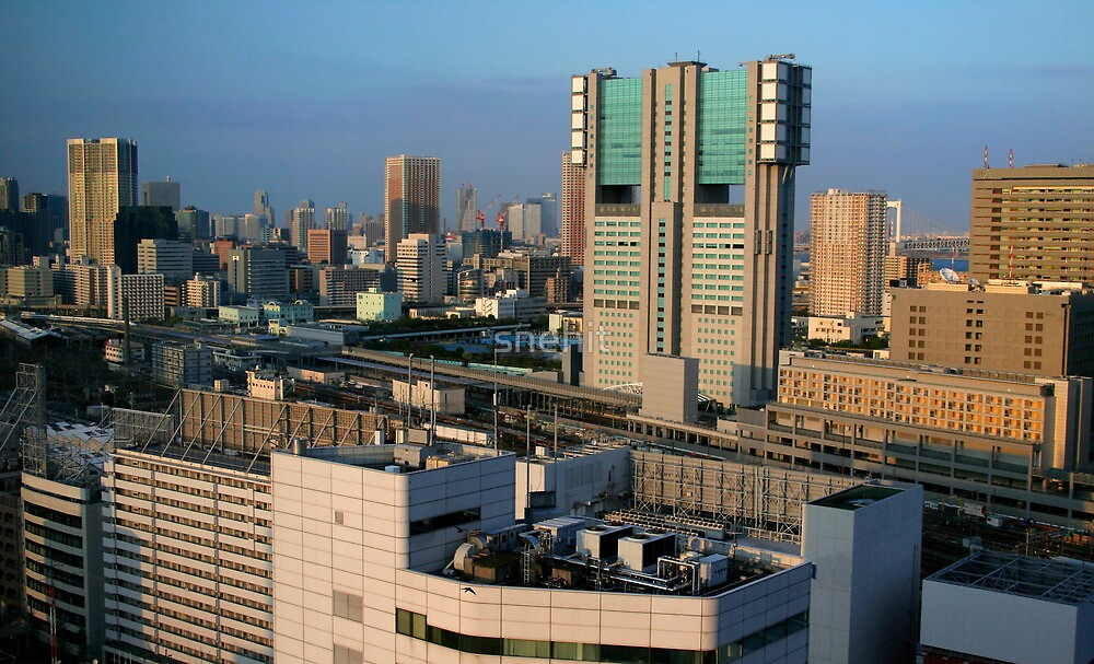 Tokyo cityscape by snehit