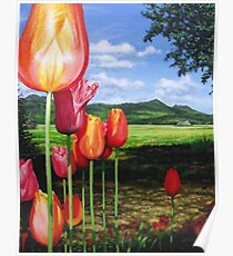 Tulips on the Edge Poster