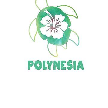 Sea Turtle Polynesian Hawaiian Honu Ocean Vacation Souvenir Hibiscus Flower Polynesia by hlcaldwell