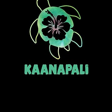Sea Turtle Polynesian Hawaiian Honu Ocean Vacation Souvenir Hibiscus Flower Kaanapali by hlcaldwell