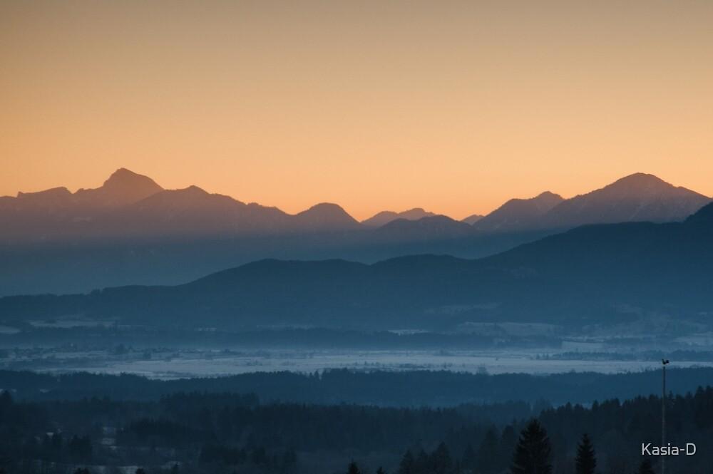 Hazy Winter Sunrise by Kasia-D