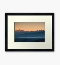 Hazy Winter Sunrise Framed Print