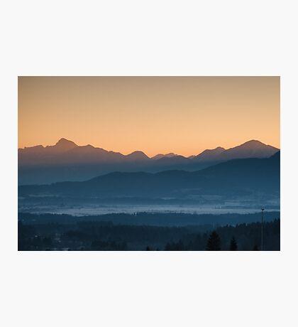 Hazy Winter Sunrise Photographic Print