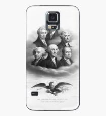 First Six Presidents - Bald Eagle - Vintage Lithograph Case/Skin for Samsung Galaxy