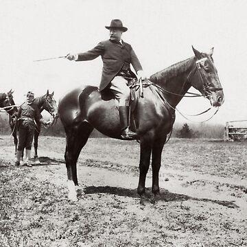 President Roosevelt Horseback Riding - 1907 by warishellstore