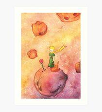 Prince, Rose and Fox  Art Print