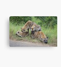 Hyena Family - WildAfrika Canvas Print