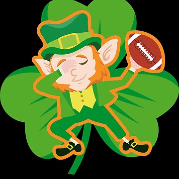 Dabbing Leprechaun Football Funny St Patricks Day Apparel by CustUmmMerch