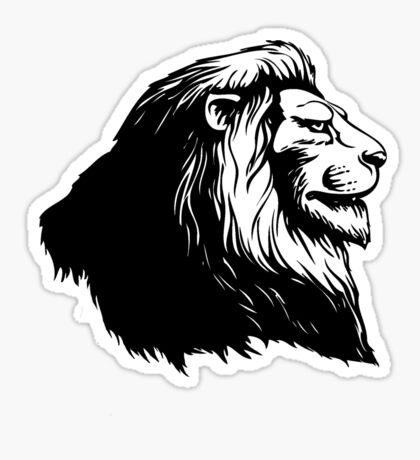 Proud Lion Sticker