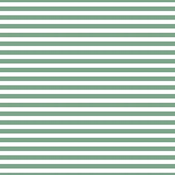 Sage Green and White Horizontal Deck Chair Stripes by podartist