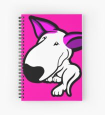 Pink Ears English Bull Terrier Puppy Spiral Notebook