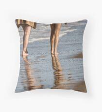 The Beach Walkers Throw Pillow