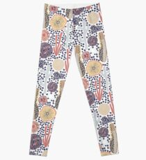 Abstract underwater plants. Seastar corals sponges reef Leggings