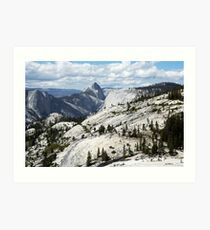 Half Dome in Yosemite National Park from Olmsted Point Art Print