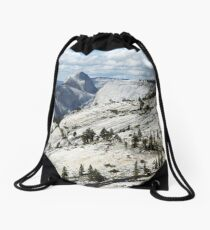 Half Dome in Yosemite National Park from Olmsted Point Drawstring Bag