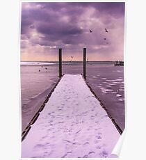 Winter Dock Poster