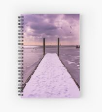 Winter Dock Spiral Notebook