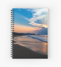 Zipolite Sunrise Spiral Notebook