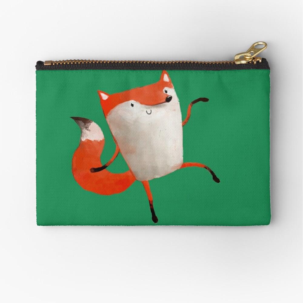 Happy Dancing Fox Zipper Pouch