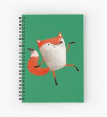 Happy Dancing Fox Spiral Notebook