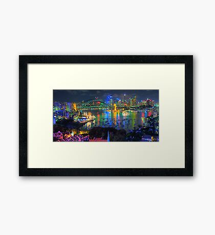 """""""Wonderland"""" -  Sydney Harbour (Panoramic) - The HDR Experience Framed Print"""