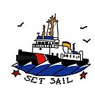 Coast Guard Buoy Tender II Set Sail  by AlwaysReadyCltv