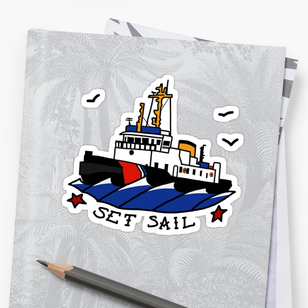 Coast Guard Buoy Tender II Set Sail  Sticker