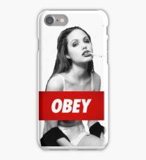 Angelina Jolie Obey iPhone Case/Skin