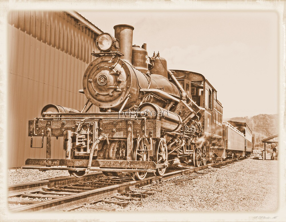 small steam engine by pdsfotoart