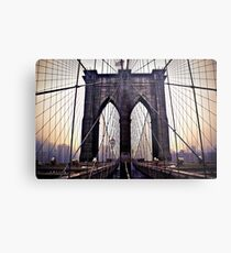 Gloomy Brooklyn Bridge Metal Print