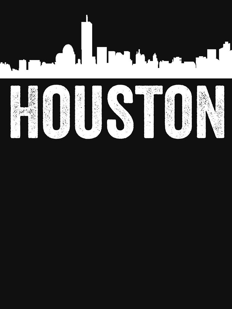 cityscape outline - houston by TrendJunky