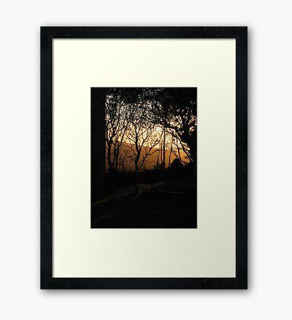 GOLDEN WELCOME Framed Print