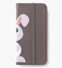 Der kleine süße Hase mit seinen große Augen iPhone Flip-Case/Hülle/Klebefolie