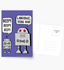 Beeping Robot Postcards