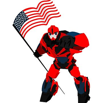 American Flag Funny Robotic Boys  by macshoptee