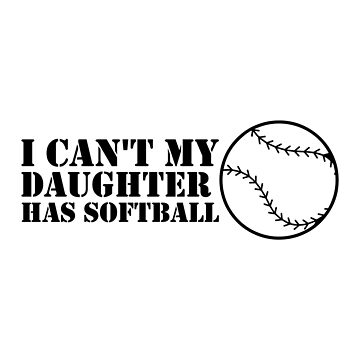 Funny Softball For Mom Dad by macshoptee