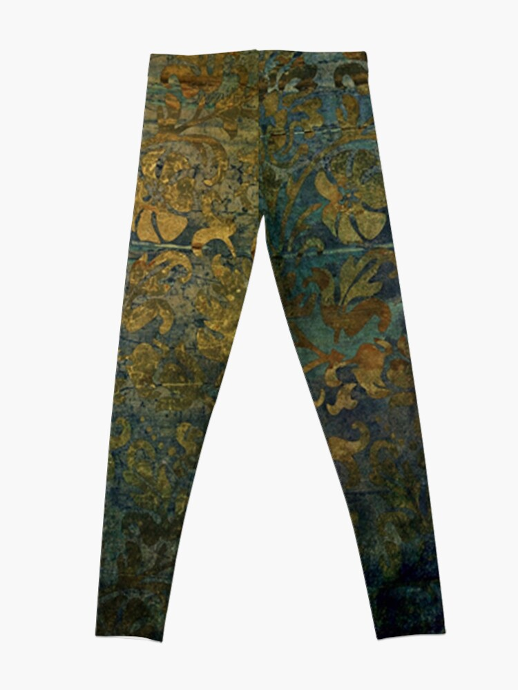Alternate view of Grunge,damasks,rustic,worn,velvet,wall paper,victorian,damask Leggings