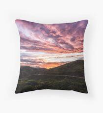 Sunset Fireworks Over Marin Throw Pillow