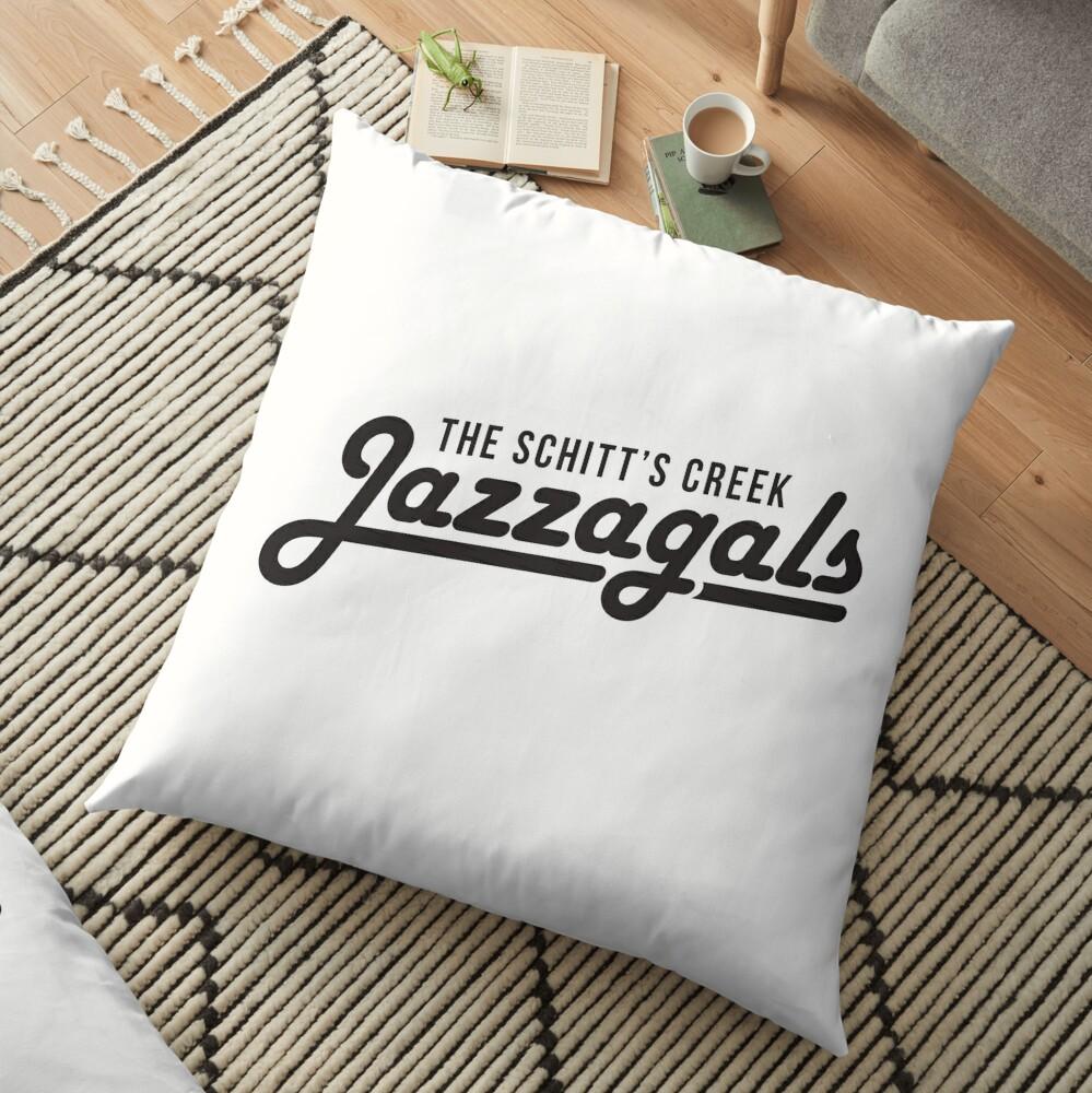 The Schitt's Creek Jazzagals - black type Floor Pillow