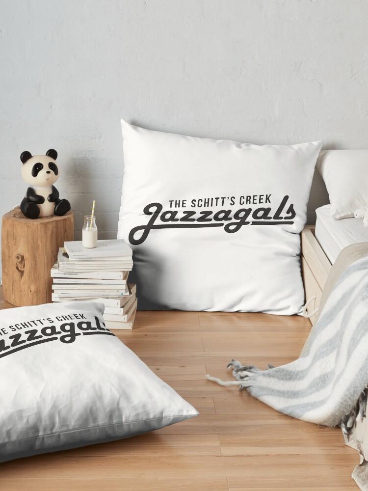 Alternate view of The Schitt's Creek Jazzagals - black type Floor Pillow