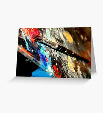 Colors yell out loud! Greeting Card
